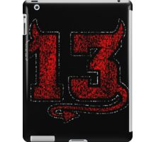 Lucky Devil 13 Distressed iPad Case/Skin