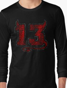 Lucky Devil 13 Distressed Long Sleeve T-Shirt