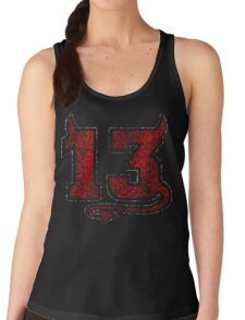Lucky Devil 13 Distressed Women's Tank Top