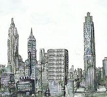 New York Skyline by Tristan Klein