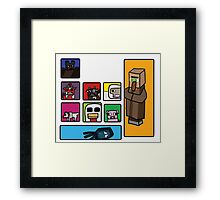 Minecraft Peaceful Mobs Framed Print
