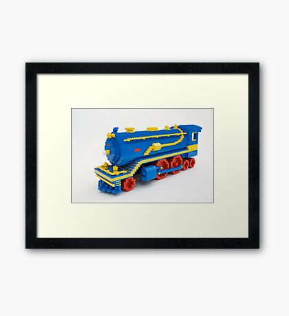 LEGO Train Engine Framed Print