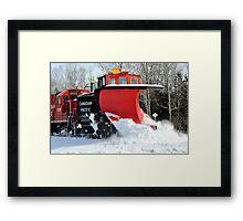Snow Plow Framed Print