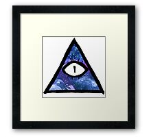 cosmic eye of providence Framed Print