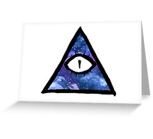 cosmic eye of providence Greeting Card