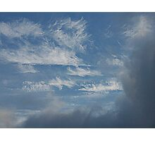 Horse Tails In The Sky Photographic Print