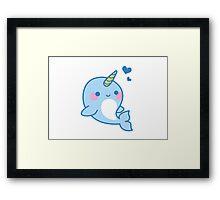 Cute Narwhal Framed Print