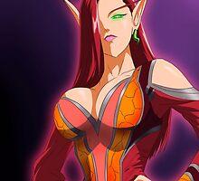 Blood Elf Warlock by MissAinley