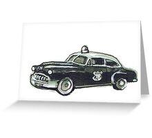 Cop Car Greeting Card