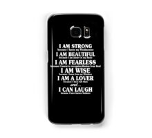 I am strong because i know my weaknesses Funny Geek Nerd Samsung Galaxy Case/Skin
