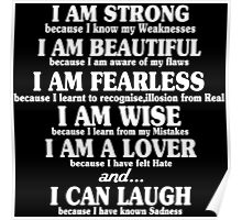 I am strong because i know my weaknesses Funny Geek Nerd Poster