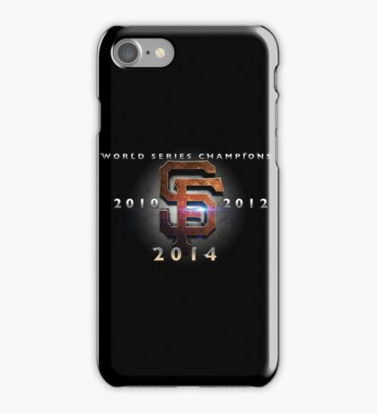 SF Giants World Series Champs X 3 MOS iPhone Case/Skin