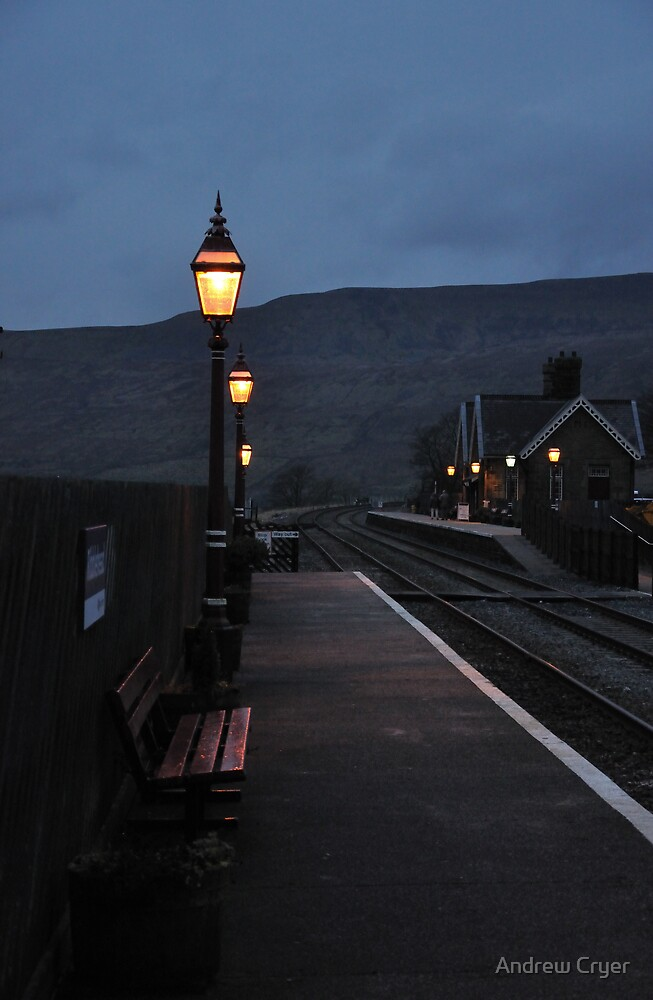 Ribblehead Train Station At Dusk by Andrew Cryer
