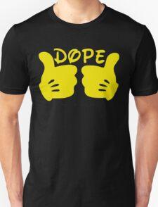 Dope Thumbs Up [Yellow] Unisex T-Shirt