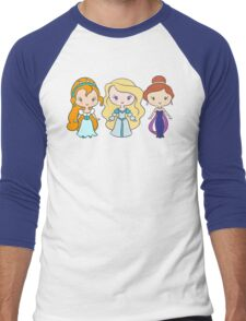 Thumbelina, Odette, and Anastasia - Lil' CutiEs Men's Baseball ¾ T-Shirt
