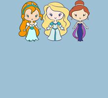 Thumbelina, Odette, and Anastasia - Lil' CutiEs Womens Fitted T-Shirt