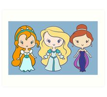 Thumbelina, Odette, and Anastasia - Lil' CutiEs Art Print