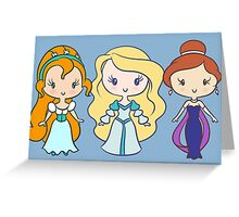 Thumbelina, Odette, and Anastasia - Lil' CutiEs Greeting Card