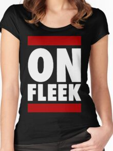 On Fleek [Red] Women's Fitted Scoop T-Shirt
