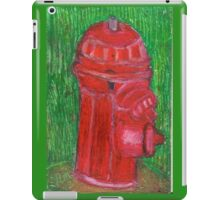 Fire Engine Red Fire Hydrant iPad Case/Skin