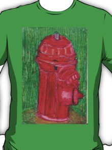 Fire Engine Red Fire Hydrant T-Shirt