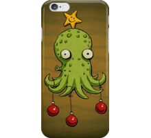 Christmas cephalopod iPhone Case/Skin