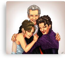 Missy, Clara and the Doctor Canvas Print