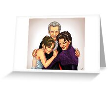 Missy, Clara and the Doctor Greeting Card