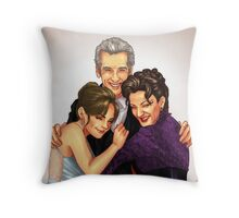 Missy, Clara and the Doctor Throw Pillow