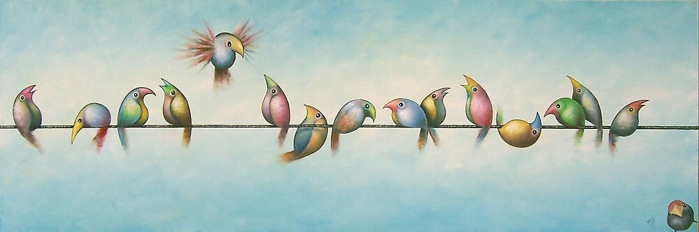Finches On Parade #2 by Karsten Stier