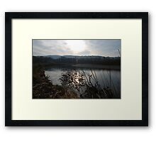 Sunset on the River Towy Framed Print