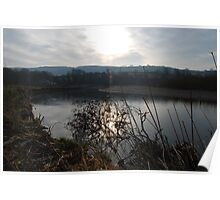 Sunset on the River Towy Poster