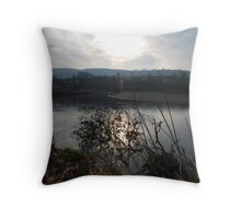 Sunset on the River Towy Throw Pillow