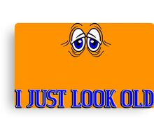 I just look old Funny Geek Nerd Canvas Print