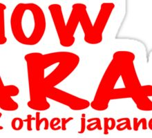 I know karate and like 2 other japanese words! Funny Geek Nerd Sticker