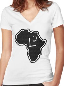 The Haplogroup in You - L2 Women's Fitted V-Neck T-Shirt
