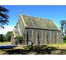 Blue stone church Photographic Print