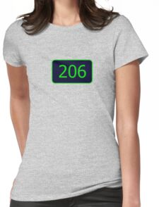 206 (Seattle!) Womens Fitted T-Shirt