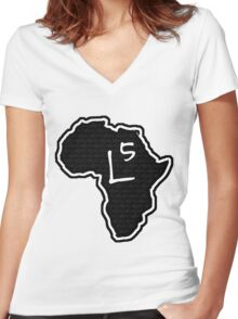 The Haplogroup in You - L5 Women's Fitted V-Neck T-Shirt
