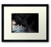 Dark street Framed Print