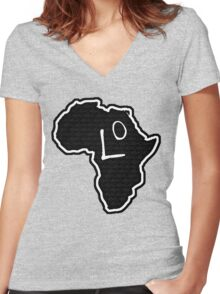 The Haplogroup in You - L0 Women's Fitted V-Neck T-Shirt