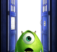 Tardis Monster inc Sticker
