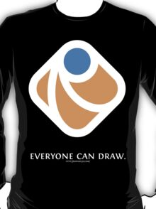 Everyone can draw (black) T-Shirt