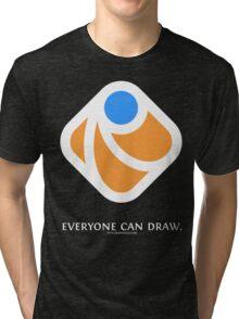 Everyone can draw (black) Tri-blend T-Shirt