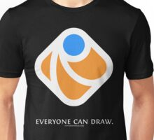 Everyone can draw (black) Unisex T-Shirt