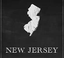 New Jersey Map Chalk Drawing by FinlayMcNevin