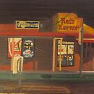 Corner Store at Night by Joan Wild