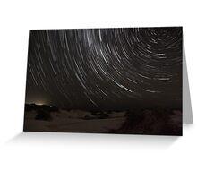 Birubi Beach Star Trails Greeting Card
