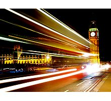 BIG BEN NIGHT BUS Photographic Print