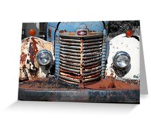 Old International Truck Greeting Card